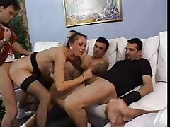 Full-grown slut concerning gangbang