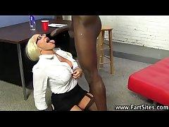 Interracial cougar gets fucked