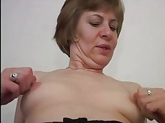 Meticulous Nipples on Little Titties Mature in Stockings Fucks