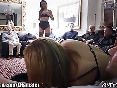British MILF Fucked forwards of a Room of Masked Men