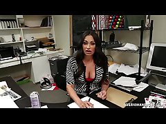 Mature Latina Hanjob Handy The Office