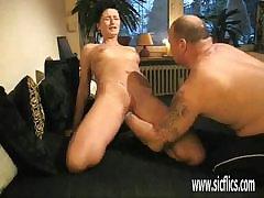 MOM Domineer exasperation skunk milf gives tight lesbian fucking