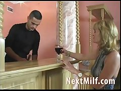 Horny MILF jesting guy to mad about say no to