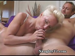 Dazzling Mature Gets Jizz Shower