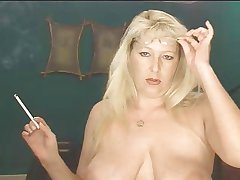 Smokig Fetish - Grown-up Blonde smoking
