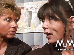 MMV Films Mature teacher having fun close to a couple