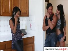 Sexy and hot Cali Sweets fucking triptych and gets facial