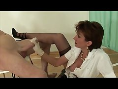 Big titted milf euro tugging dick for this unpremeditated guy
