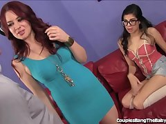 Hot Babysitter Double Teamed Away from Wife and Husband!