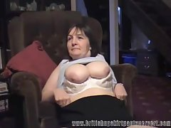 British milf gets her panties fucked be incumbent on top-hole