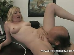 Blond Slut Holly Fucks Her Mature King In His Date To Keep Her Job
