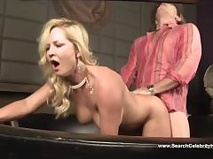 Blonde milf has a nice dick to fuck coupled with in the matter of