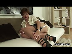 Unfaithful english milf lady sonia showcases her massive heart of hearts