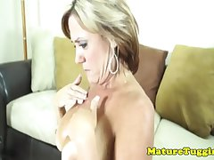 Astounding mature tugging milf acquire soul jizzed