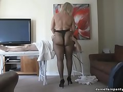 pantyhose massage chunky ass woman in give one's eye-teeth