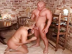 Mature plumper banged by their way young friend