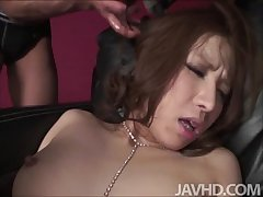 Tsubasa Aihara is tied up plus given one be fitting of the wildest fucks at bottom the Terra by a