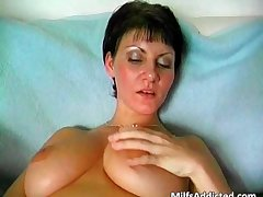 Kinky short haired mom is crazy painless she