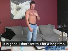 Czech Stud can't dispense his horseshit and creampies sweet MILF agents pussy
