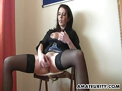 Tina Kay sucking on an venerable mans prick