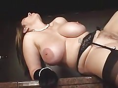Beamy titted grown up in stockings fucked