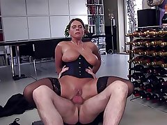 Bigtitted milf assfucked.