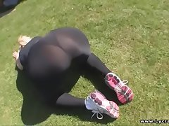 sexy bore British milf in lycra with an increment of spandex