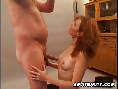 Redhead amateur Milf homemade hardcore pretence to cumshot