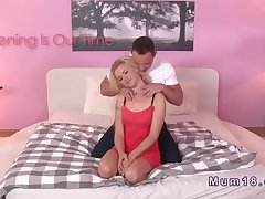 Crunchy haired blonde Milf banged adjacent to nook  HD