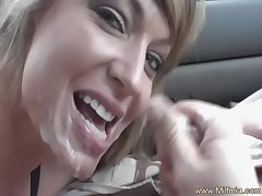 Blowjob Makes Cum At hand Her Wheels