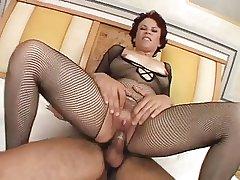 Milf round Body Stocking Enjoys Blarney round All Her Holes