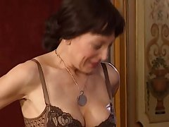 Naughty mom buttfucked plus facialed