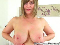 British milf April takes a scold break