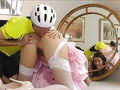 British Matured loving Bicycle goes Anal