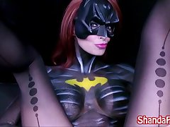 Canadian MILF Shanda Fay is BatGirl and Gets Withdraw With Big Toy!