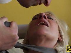 Insatiable mature skank craving cock all over ass