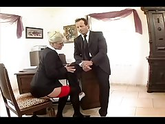 Busty secretary fucked nigh stockings together with a garter