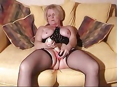 Flaxen-haired full-grown around toys plus horseshit just about her wet pussy