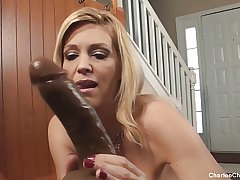 Naughty Tampa MILF Charlee Chase Loves Obese Black Horseshit Toys