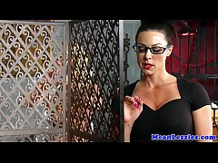 Lesbo babe Alexis Monroe dominated at the end of one's tether milf