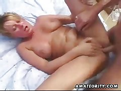 Grown up amateur wife homemade anal with facial cumshot