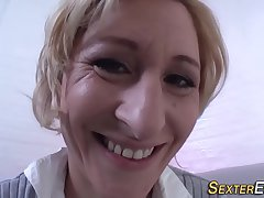 Peculiar german milf toying