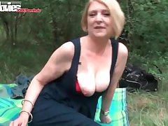 FunMovies Mature housewife fucked open-air