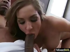 Broad in the beam Dusky Cock Fill Horny X-rated Mature Sprog vid-25
