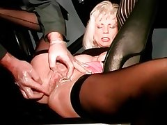 I am Pierced mature floosie gets her cunt fisted
