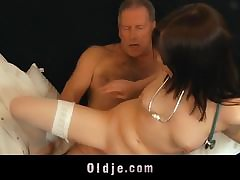 Sophia Plays With a Vibrator Dimension Wearing Underclothing