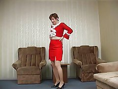 Pantyhose matured buzzed tick Xmas party
