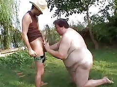 Pompously Grown-up SSBBW Fucked Outside Hard