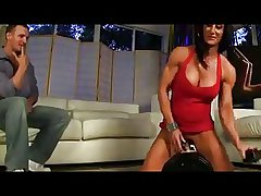 Milf rides a sybian added to then rides a guy's cock