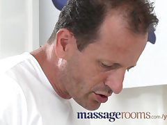 Massage Rooms Buxom mature fair-haired milks masseuse s lasting cock with their way nuisance